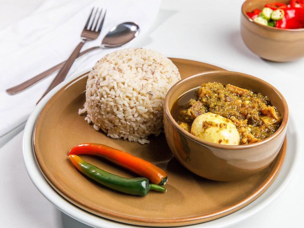 Ofada Rice Ayamase Stew